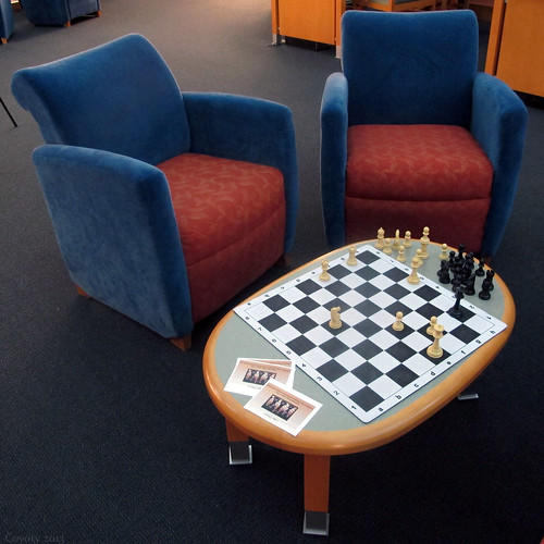 Tunxis Library Chess by Coyoty