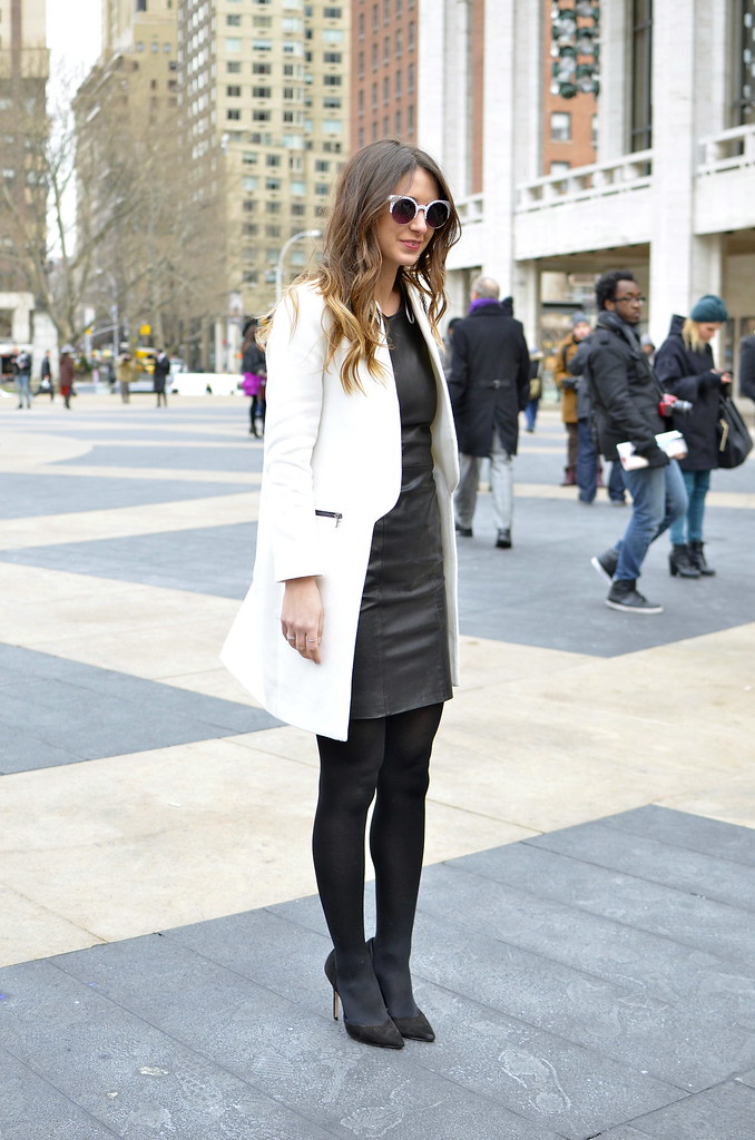 street style, nyfw, fall 2013, blogger, new york, fashion week, black and white