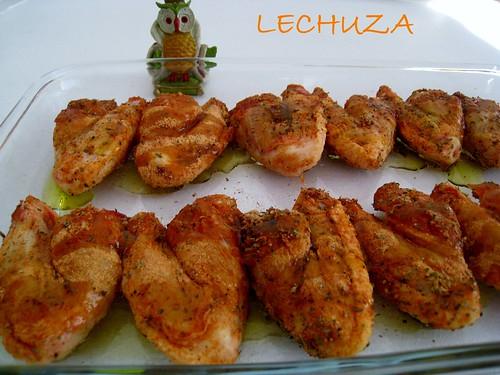 Alitas de pollo con salsa de queso (27)