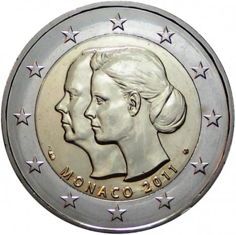 2 Euro Monako 2011, Svadba princa Alberta a Charlene