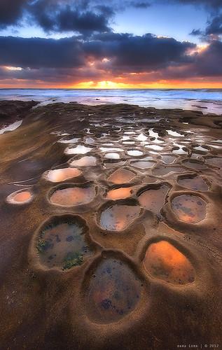 sunset sea beach sandiego lajolla