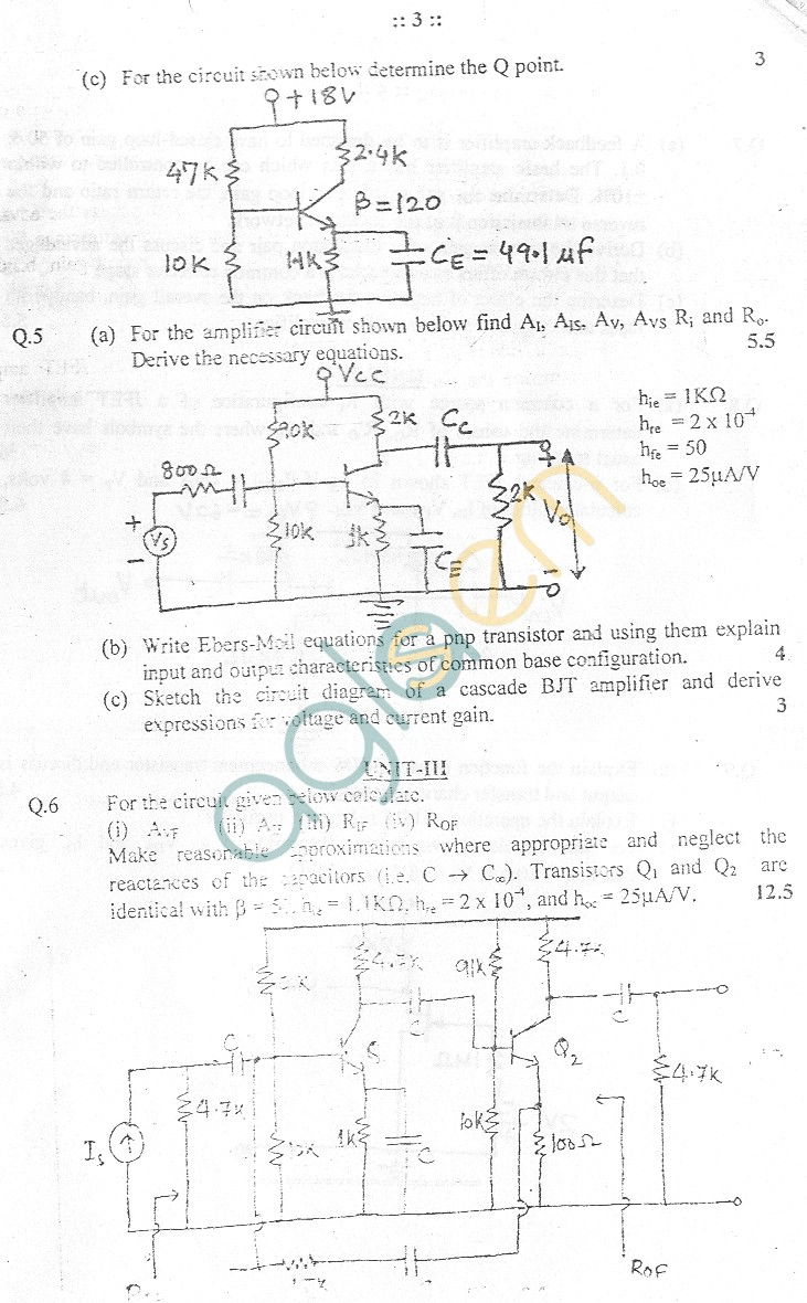 GGSIPU Question Papers Third Semester – End Term 2005 – ETEC-207