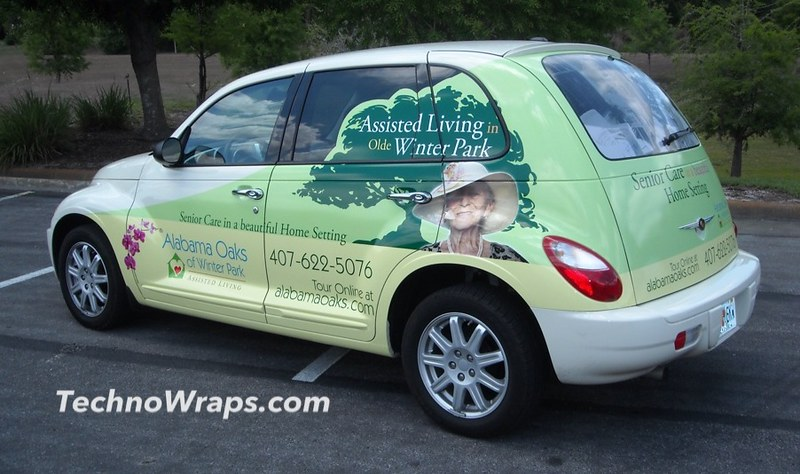 Wrapped PT Cruiser car in Orlando