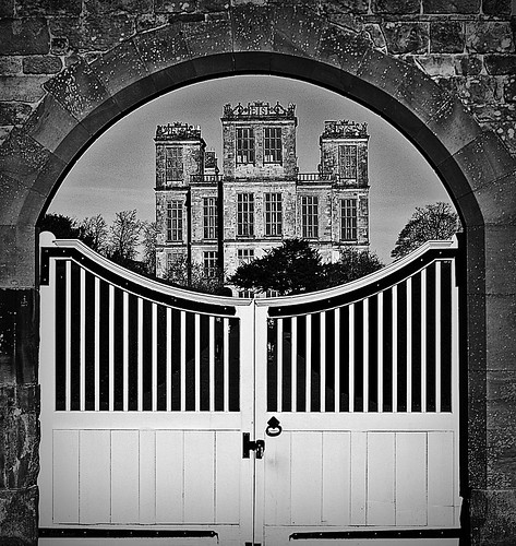 Hardwick Hall 1 bw by birbee