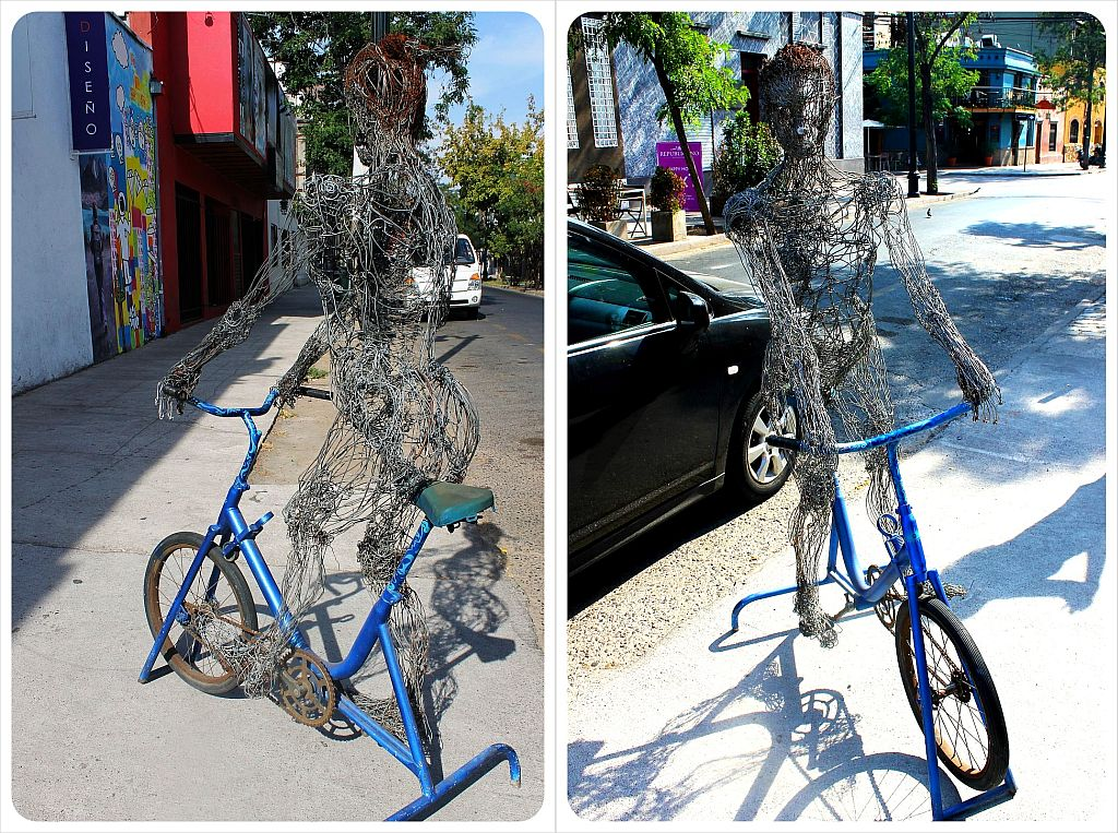 Santiago bike sculpture