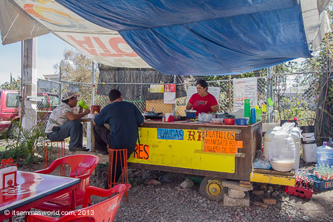 """A typical taco stand (This is """"The Slow Lady"""")"""