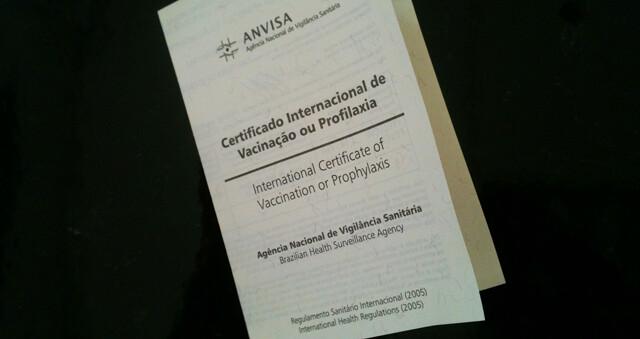 Certificado Internacional de Vacinação e  Profilaxia 1