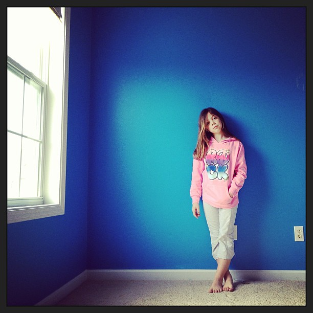 Last time in her room, in the blue she picked out herself. #latergram