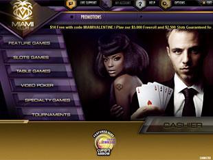 Miami Club Casino Lobby