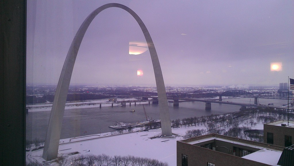 I had a pretty nice view of the Arch from my hotel.