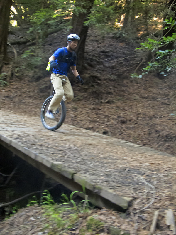 Yu on his first MUni ride