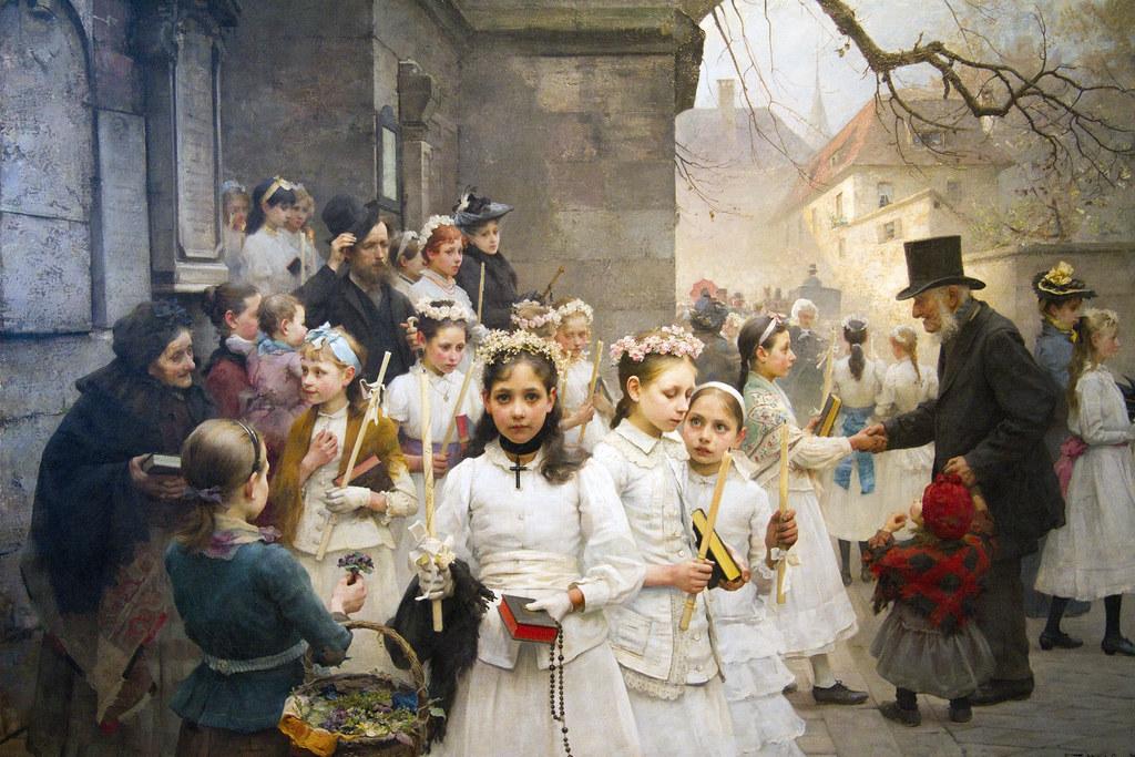 Dopo la prima Comunione, Karl Frithjof Smith, 1892, pittura, olio su tela (Museo Revoltella) by storvandre