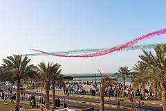 Jet fighters show on Kuwait National Day 2013