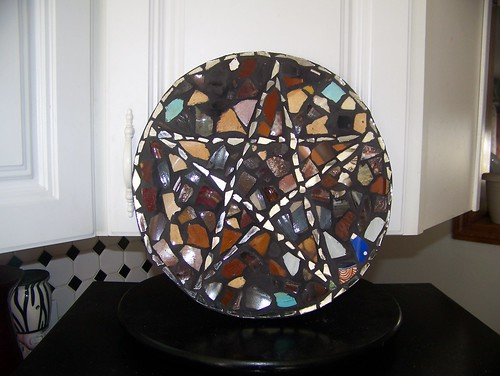 letter founder - brown pentagram mirror mosaic by jim leftwich