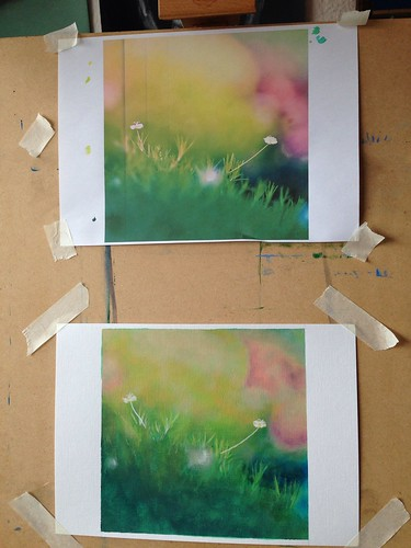Meadow flowers painting