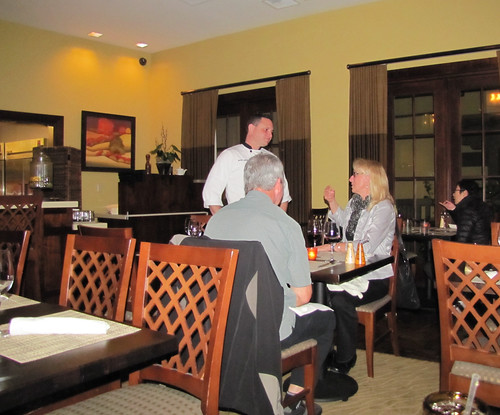 Chef Marc Jones explains the dessert menu at Bistro Abrego