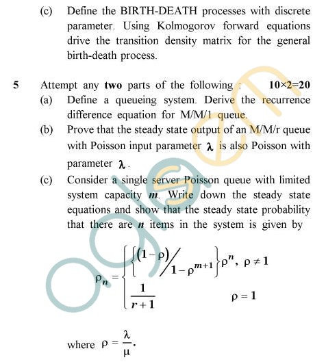 UPTU B.Tech Question Papers - TMA-012/MA-012 - Probability & Stochastic Process