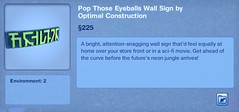 Pop Those Eyeballs Wall Sign by Optimal Construction