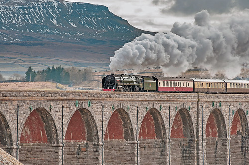 Britannia on the Ribblehead Viaduct by Andy Pritchard - Barrowford