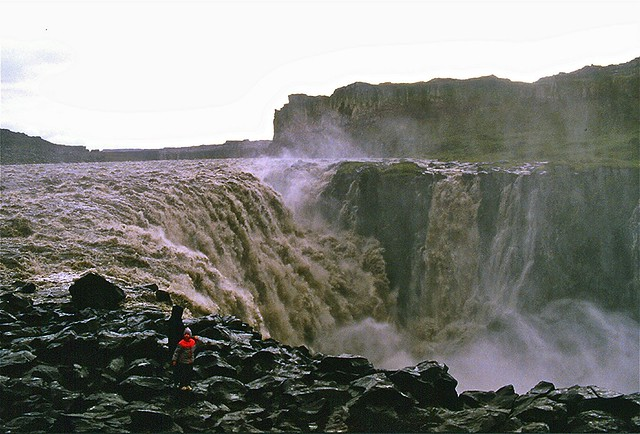 Little Enrica at Dettifoss. 1984