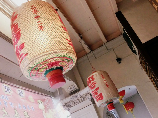 Paper lanterns in the streets of Melaka, Malaysia