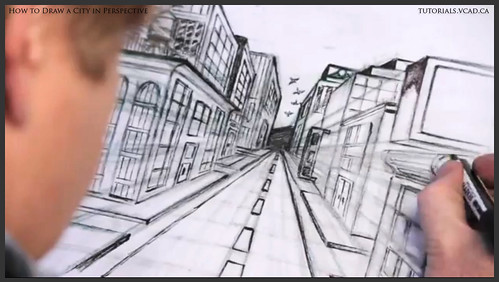 learn how to draw city buildings in perspective 037