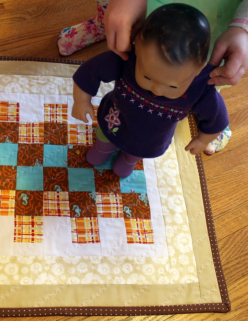 scrappy doll quilt 2