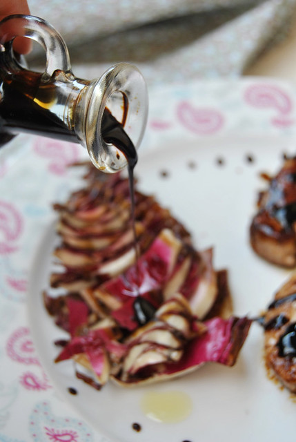 Grilled Red Radicchio with Balsamic Vinegar
