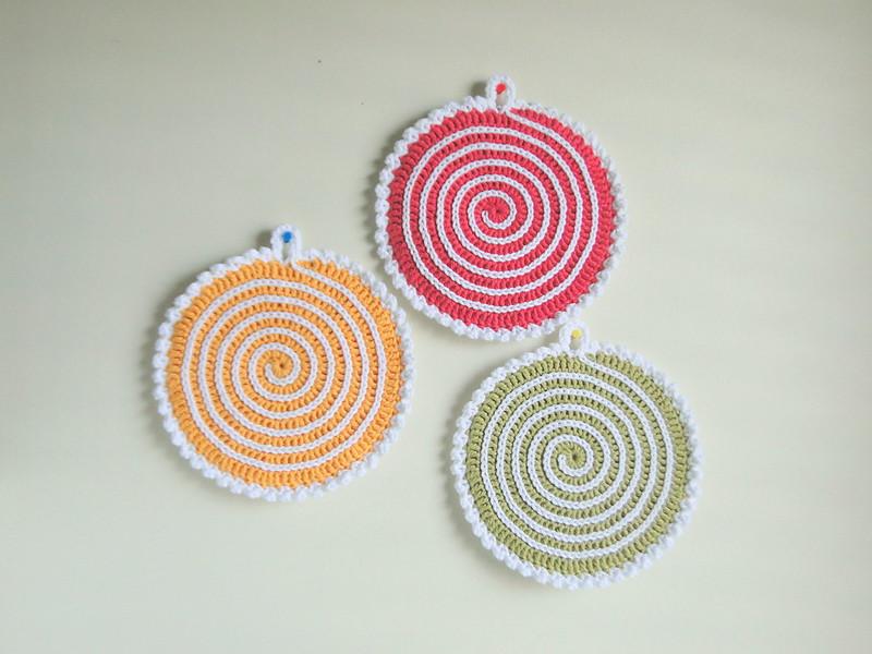 spiral potholders