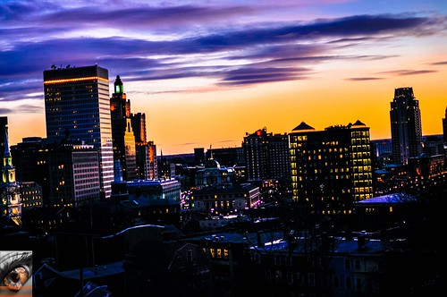 Dusk...Providence Rhode Island by Fire In The Eye Photography via I {heart} Rhody