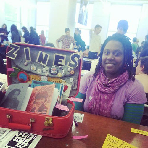 Spotted: Marya Errin Jones, zinster/producer of ABQ Zine Fest abqzinefest.com #czf2013 #poczines