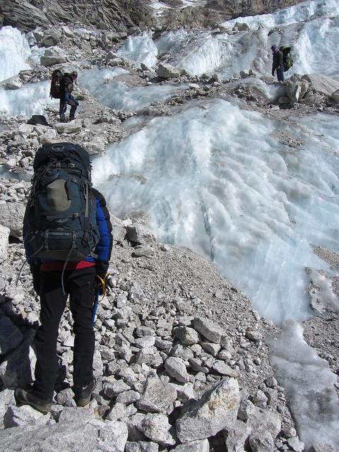 On Trakording Glacier