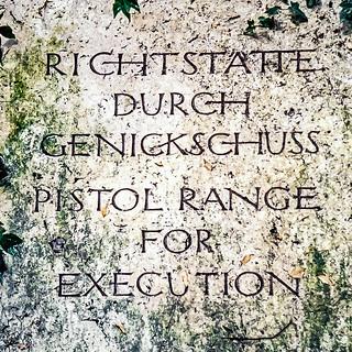 Dachau Concentration Camp pistol range plaque