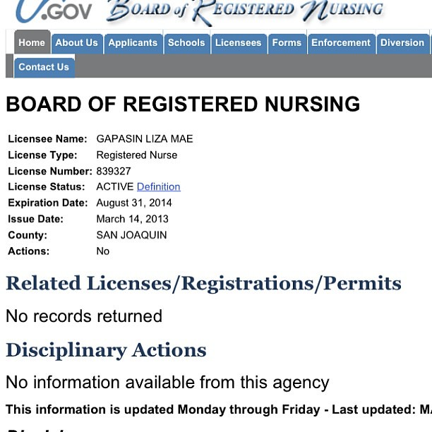 Liza Mae Gapasin BSN, RN!! Heck Yes! I did it!!!