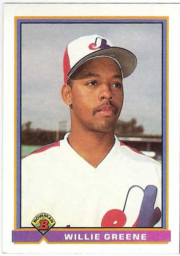1991 Bowman Willie Greene