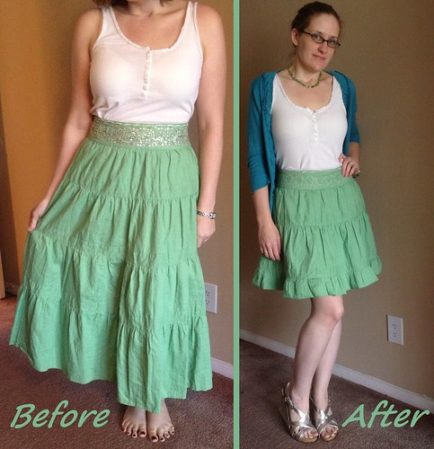 St Paddy's Skirt Before & After
