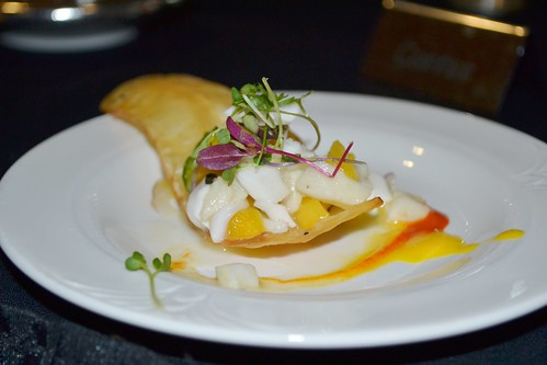 Sea Bass, Mango and Fresh Coconut Ceviche