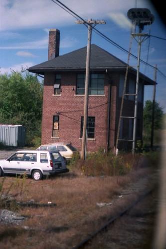 railroad tower train ma switch massachusetts railway bm signal interlocking lowell