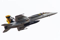 'Mace 200' - VFA-27 New CAG Bird(F/A-18E Block2) Atsugi route 2 depature.