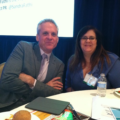 Mark Ragan and Sandra Fathi at the 2013 Ragan PR Measurement Summit in DC