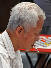 Singapore - Draughts Player's Portrait