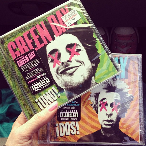Day79 purchased two if Green Days new albums! Just have to buy the third one still! 3.20.13 #jessie365 #greenday
