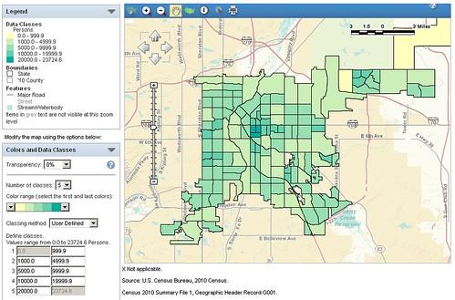 What Are Colorados Densest Neighborhoods DenverUrbanism Blog - Denver colorado on map of us
