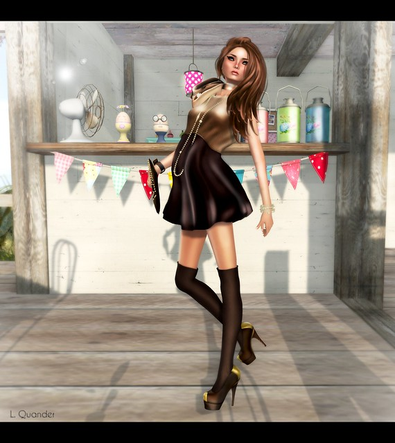 Baiastice_Bibbe dress-lion-choco at Arcade v2
