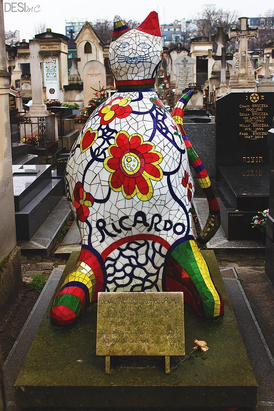 Tomba del gatto Ricardo - di Niki de Saint Phalle