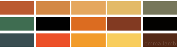 colour palette : halloween special curated by Emma Lamb