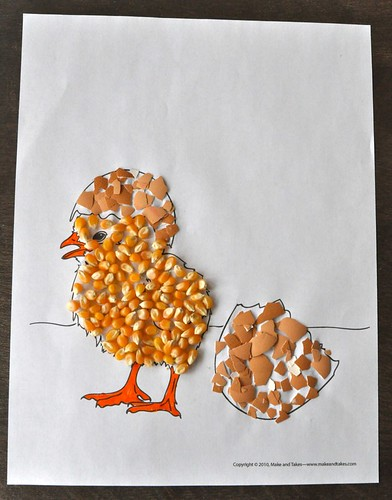 Easter Chick Eggshell Corn