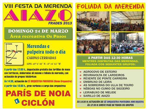 Frades 2013 - VIII Festa da Merenda en Aiazo - cartel