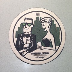 Combustible Edison cocktail coaster