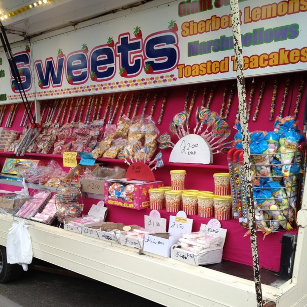 You can't go to the fair and not get any #candy #sweets #funfair